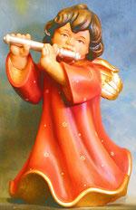 Bild Holzfigur Engel mit Querflöte Nr. 350 handgeschnitzt