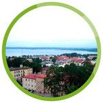 Gizycko/Lötzen - Lage der Stadt am Löwentinsee