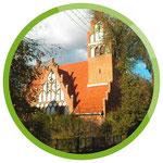 Alte Backsteinkirche in Wejsuny