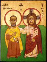 Primizbild - Christus und Abt Menas,