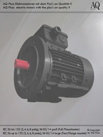 Elektromotoren » Einphasenmotoren » Anlaufkondensator-schwerer Anlauf » 4 polig (ca. 1450 U/min) BK/AK » B3/14gr (Fuß/Flansch)