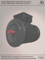 Elektromotoren » Drehstrommotoren » 2 Drehzahlen quadratisches Gegenmoment (Lüftermoment) » 4/6 polig (ca. 1450/950 U/min) » B14gr (Flansch)