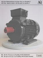 Elektromotoren  Drehstrommotoren  2 Drehzahlen quadratisches Gegenmoment (Lüftermoment)  4/6 polig (ca. 1450/950 U/min)  B3 (Fuß)