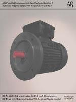 Elektromotoren » Drehstrommotoren » 2 Drehzahlen quadratisches Gegenmoment (Lüftermoment) » 4/8 polig (ca. 1400/730 U/min) » B14gr (Flansch)