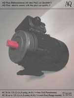Elektromotoren » Drehstrommotoren » 2 Drehzahlen konstantes Gegenmoment » 2/4 polig (ca. 2800/1450 U/min) » B3/14kl (Fuß/Flansch)