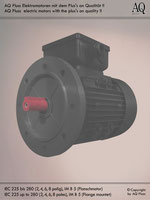 Elektromotoren » Einphasenmotoren » Anlaufkondensator-schwerer Anlauf » 4 polig (ca. 1450 U/min) BK/AK » B5 (Flansch)