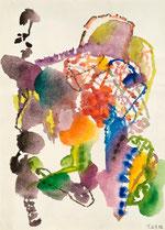"Heinz Trökes ""Farbvernetzung"", Aquarell 1992"