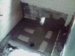 施工中 浴槽設置前