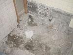 施工中 浴槽解体後