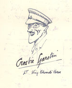 Sketch of Crosbie Garstin in Cecily's album - probably by himself
