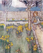 Winifred Cayley Robinson - Daffodils - possibly featuring the garden at 'Vellansagia'
