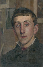 Kenyon Cox - Portrait of Walter Ullmann, Cecily's brother, in 1880