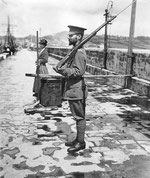 John Lamorna Birch on wartime duty in Newlyn Harbour