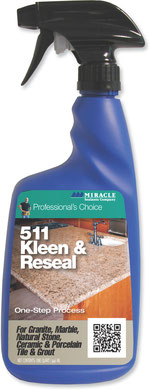 Miracle Kleen and Reseal tile, stone, and grout cleaner