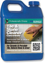 Bottle of Miracle Tile & Stone Cleaner