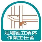 足場組立解体作業主任者の有資格者による足場組立作業