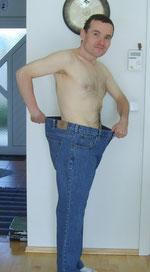 April 2009, ein Jahr zuvor war mir diese Hose zu eng