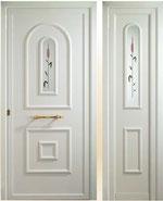 Panel doble puerta de entrada