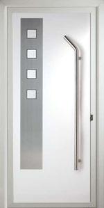 Panel de aluminio y acero inoxidable para puerta de aluminio