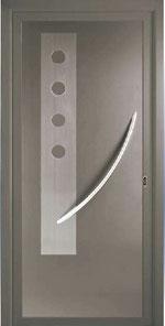 Panel decorativo Combi-inox para puerta de entrada de aluminio modelo Elsa