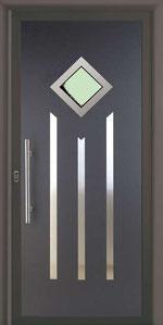 Panel de puerta de entrada de aluminio con vidrio