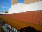 Cerramiento terraza con panel teja en Zaragoza