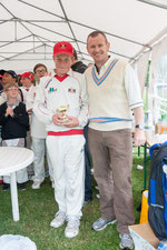 Will Clayton receiving the best batsman award