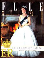 Couronnement Elizabeth II en 1953 - couverture de ELLE