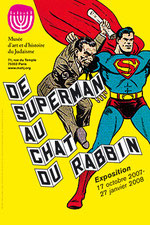 "Affiche de l'exposition ""De Superman au chat du rabbin""."
