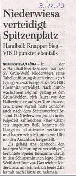 Freie Presse vom 03.12.2013