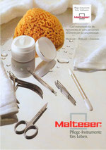 Title of the Malteser-Catalogue and link to contact formular, where you can ask for our current catalogue