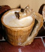 Keramik Tasse Drachentasse Steinzeug spülmaschinenfest