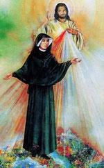 sr. Faustina pred Isusovim likom