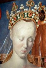 Jehan Fouquet, Agnès Sorel als Maria (Loches, Schloß)