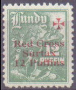 "1940 ""12 Puffin"" Red Cross value."