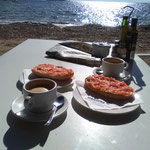 Frühstück in Cala Martina