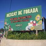 Einheimische Lebensmittel auf dem Mercat de Forada