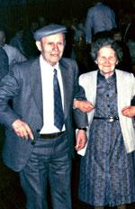 Stephanie Noels en broer Gerard-familiebijeenkomst