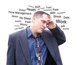 """D'après un sondage CSA (juillet 2000), """"trois salariés sur quatre se disent concernés"""" par le stress, en particulier en raison d'une surcharge de travail, de délais difficiles à respecter,"""