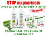de nombreuses personnes utilisent les soins a l'aloe vera pour les psoriasis et eczéma qui sont très satisfaites.