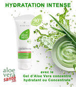 LR ALOE VIA  L'ALOE VERA CONCENTRATE - L'hydratation maximale - Une concentration à 90% de gel pur d'Aloe vera qui submerge votre peau, hydratation intense.