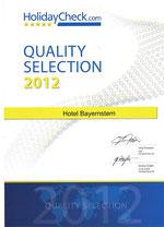 Auszeichnung Hotel Bayernstern 2012 HolidayCheck