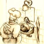 frau jenson, Cover-Idee für Boris Vians 'Schaum der Tage'