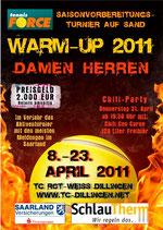 Turnierplakat des 3. Warm-Up