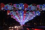 Рождественская подсветка в Барселоне