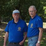 Vereinsmitglieder Dietmar Leister und Harald Schweitzer