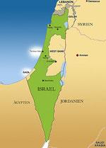 Landkarte von Israel
