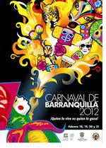 Cartel del Carnaval de Barranquilla 2012