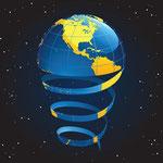 Globe in spirals being put together