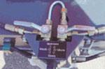 Friedhofsbagger BOKI 2651- Hydraulikverriegelung der Stützfüße